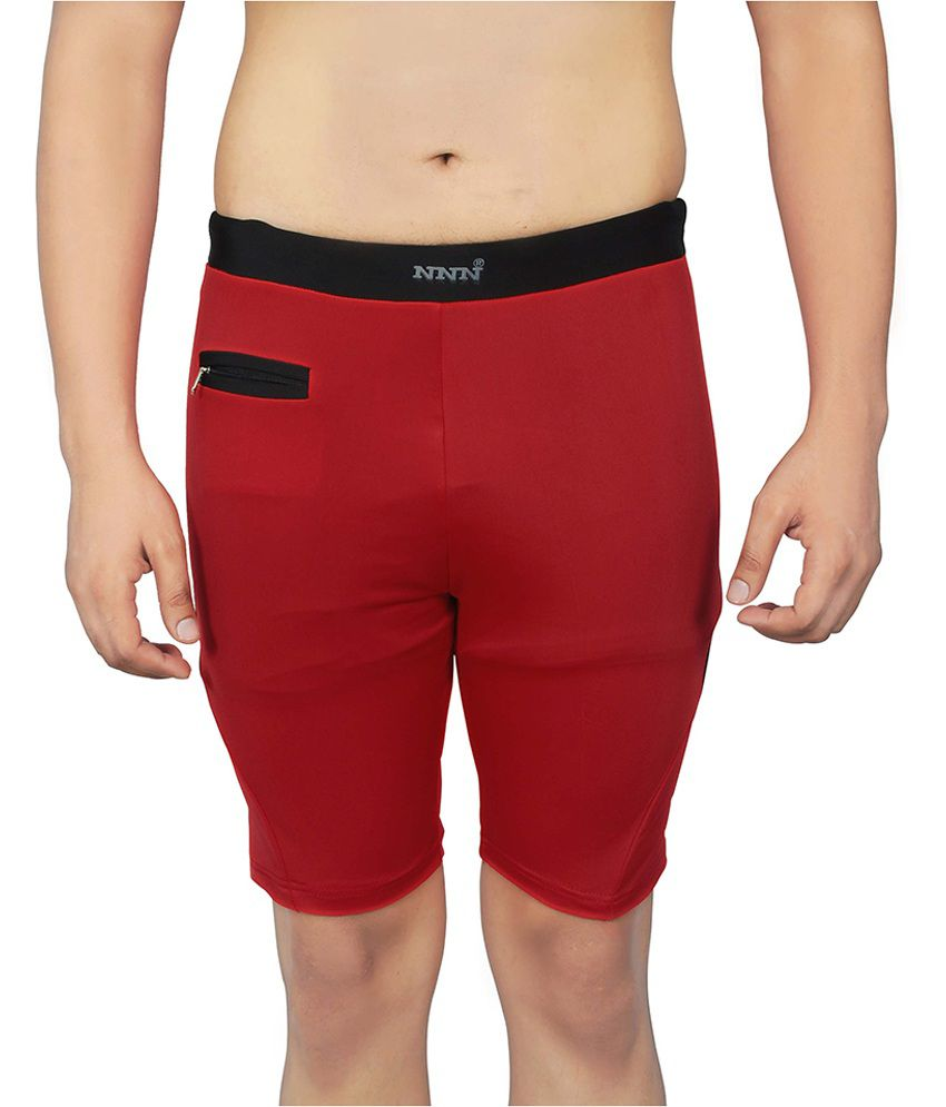 NNN Red Lycra Swimming Trunk