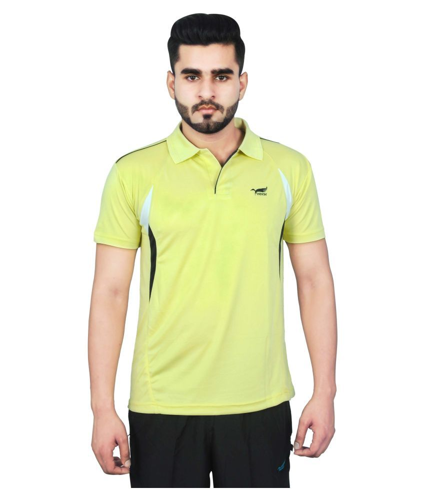 NNN Yellow Polyester T-Shirt