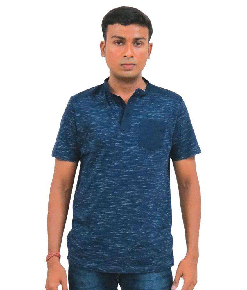 Bugg Blue Henley T-Shirt