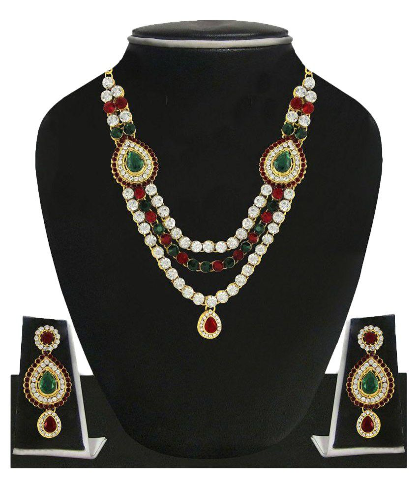 Om Jewells Golden Necklace Set