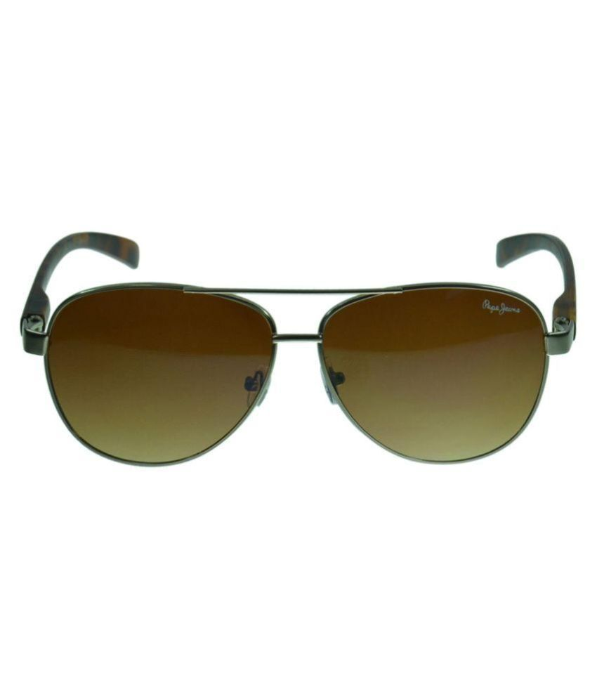 78600ded861 Pepe Jeans Brown Aviator Sunglasses ( PJ5112C2 ) - Buy Pepe Jeans ...