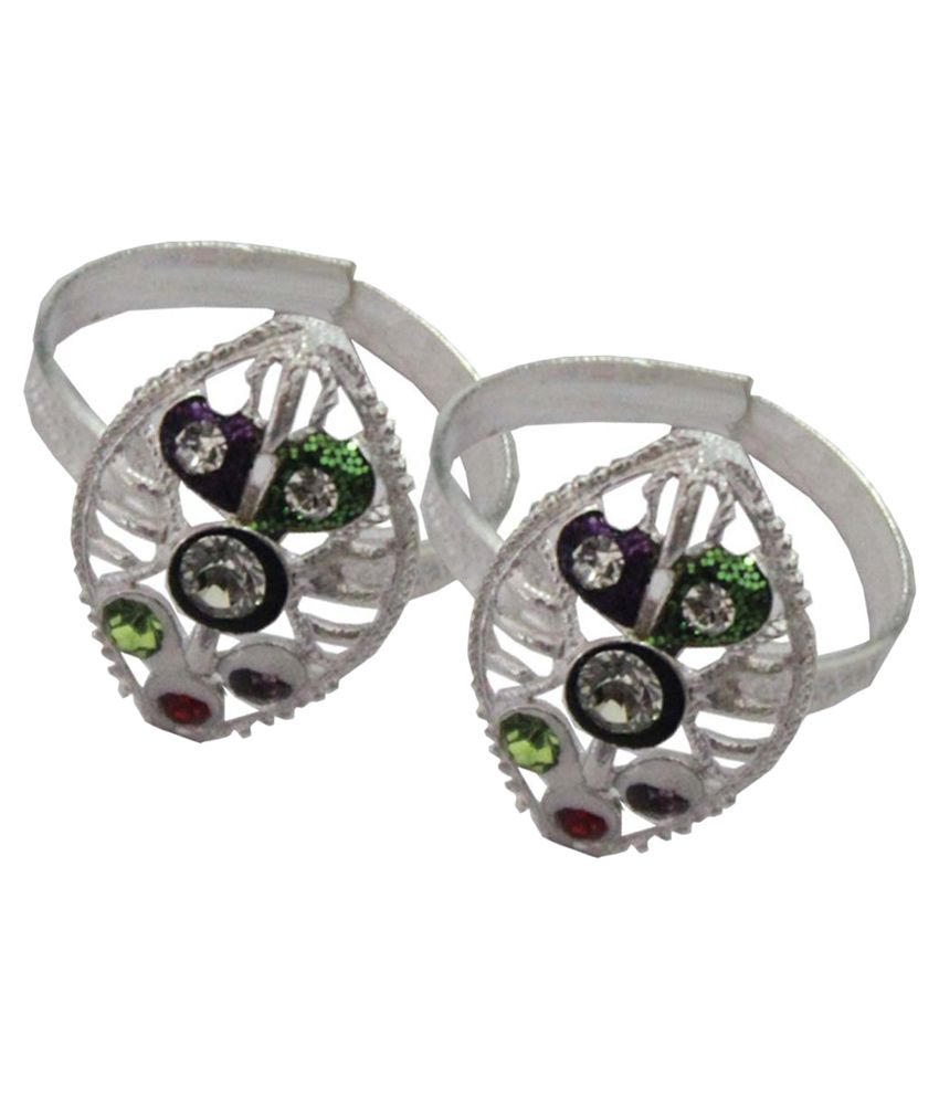 Pihu Silver Pair of Toe-rings