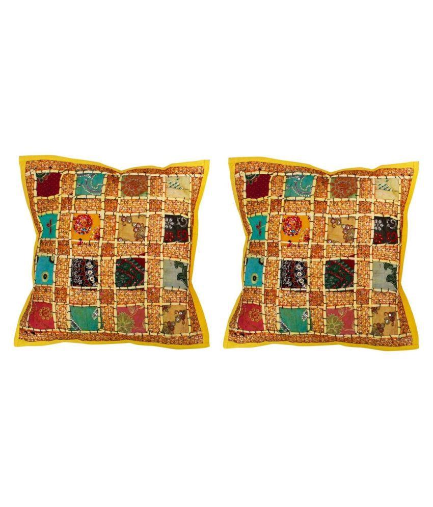 Shilpbazaar Set of 2 Cotton Cushion Covers