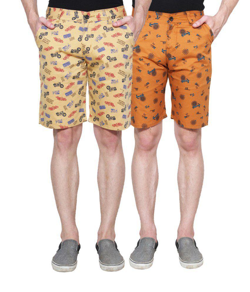 D-Rock Orange Shorts (Pack of 2)