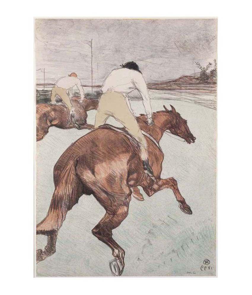 Tallenge Textured - The Jockey - Medium Size Canvas Art Print