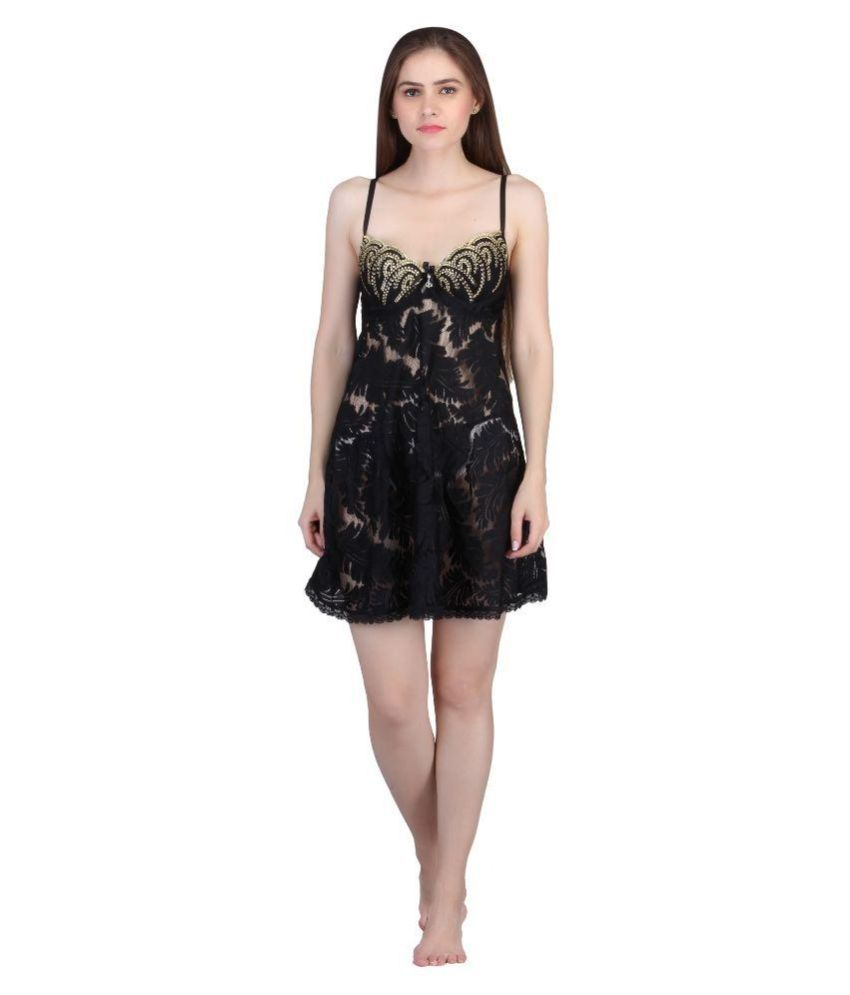 bcc5c6e5289 Buy Zorgeous Black Net Nighty & Night Gowns Online at Best Prices in ...