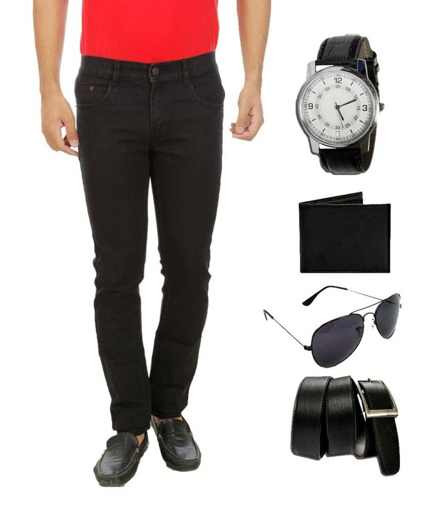 D-Rock Black Slim Fit Solid