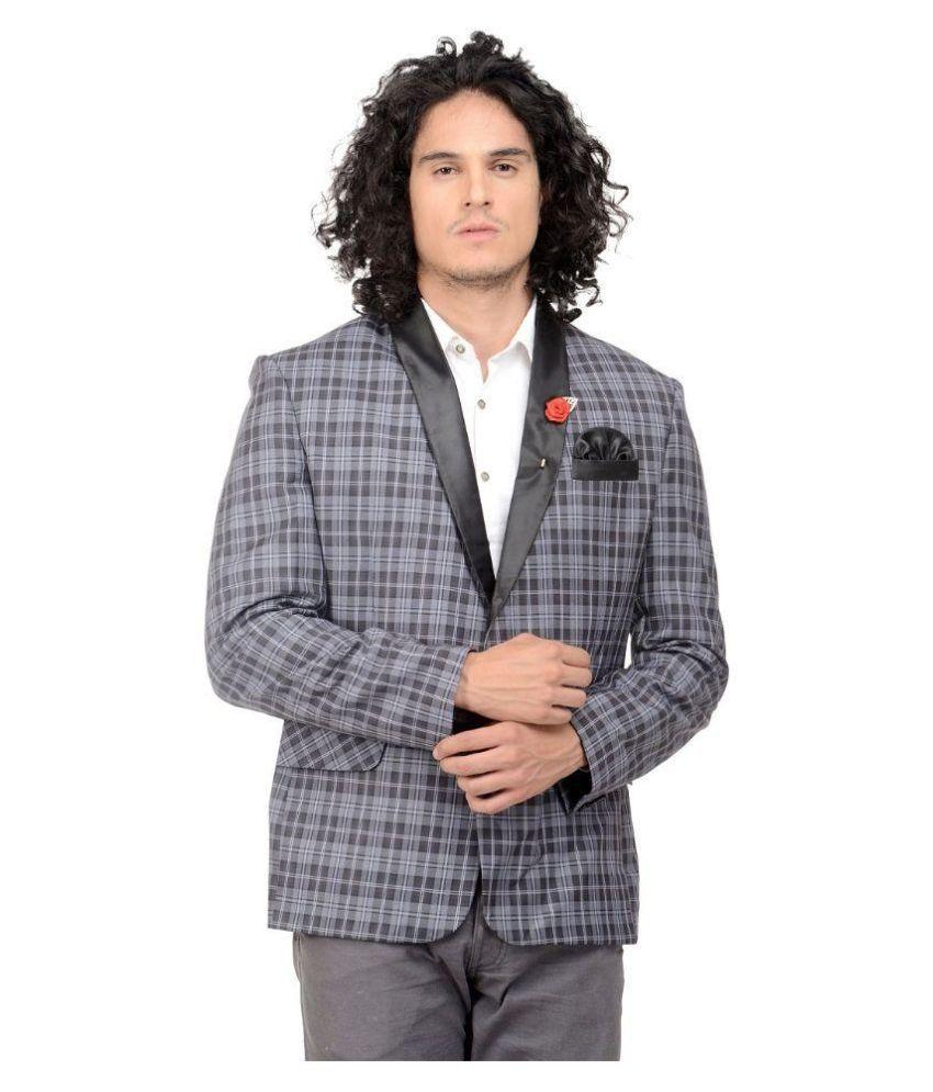 MM Fashion Grey Casual Blazers