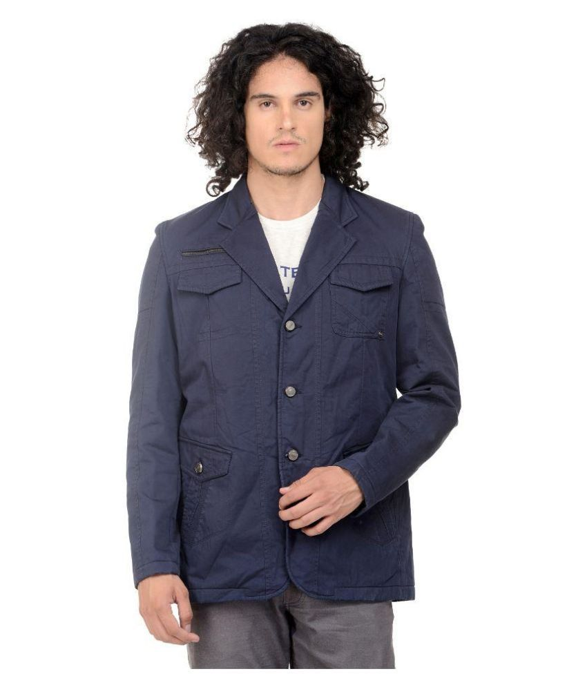 MM Fashion Navy Casual Blazers