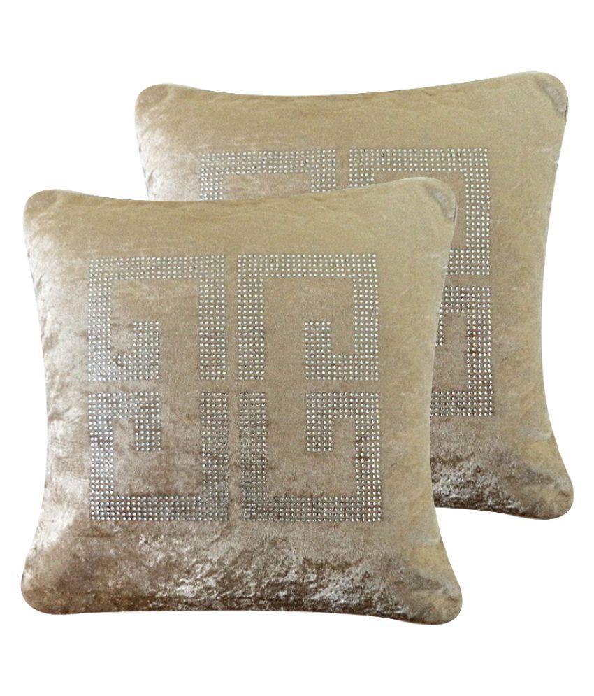 catman Set of 2 Velvet Cushion Covers