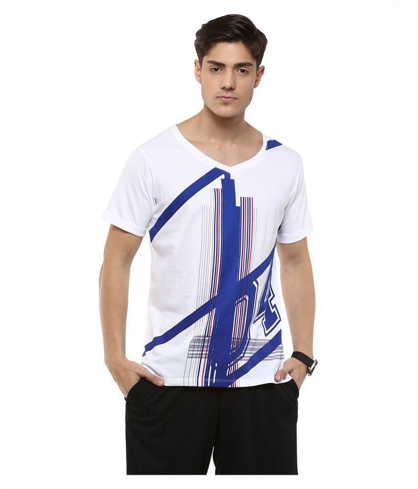Yepme White V-Neck T-Shirt