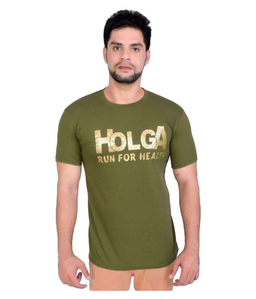 Holga Green Round T-Shirt