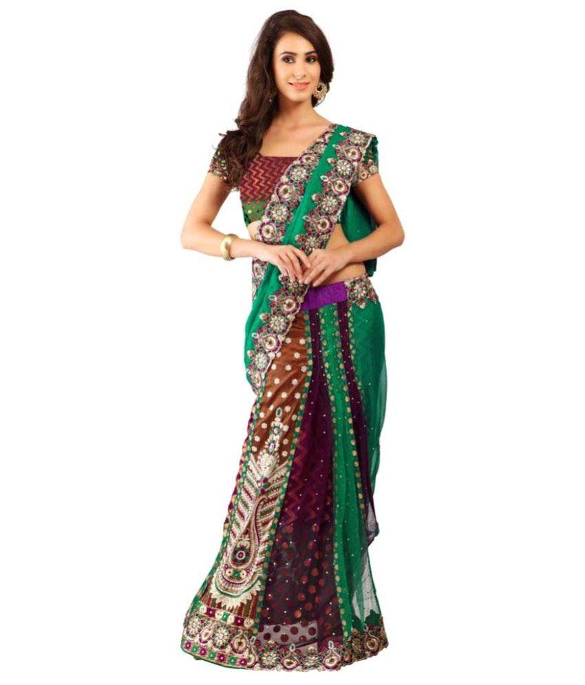 Suchi Fashion Multicoloured Chiffon Saree