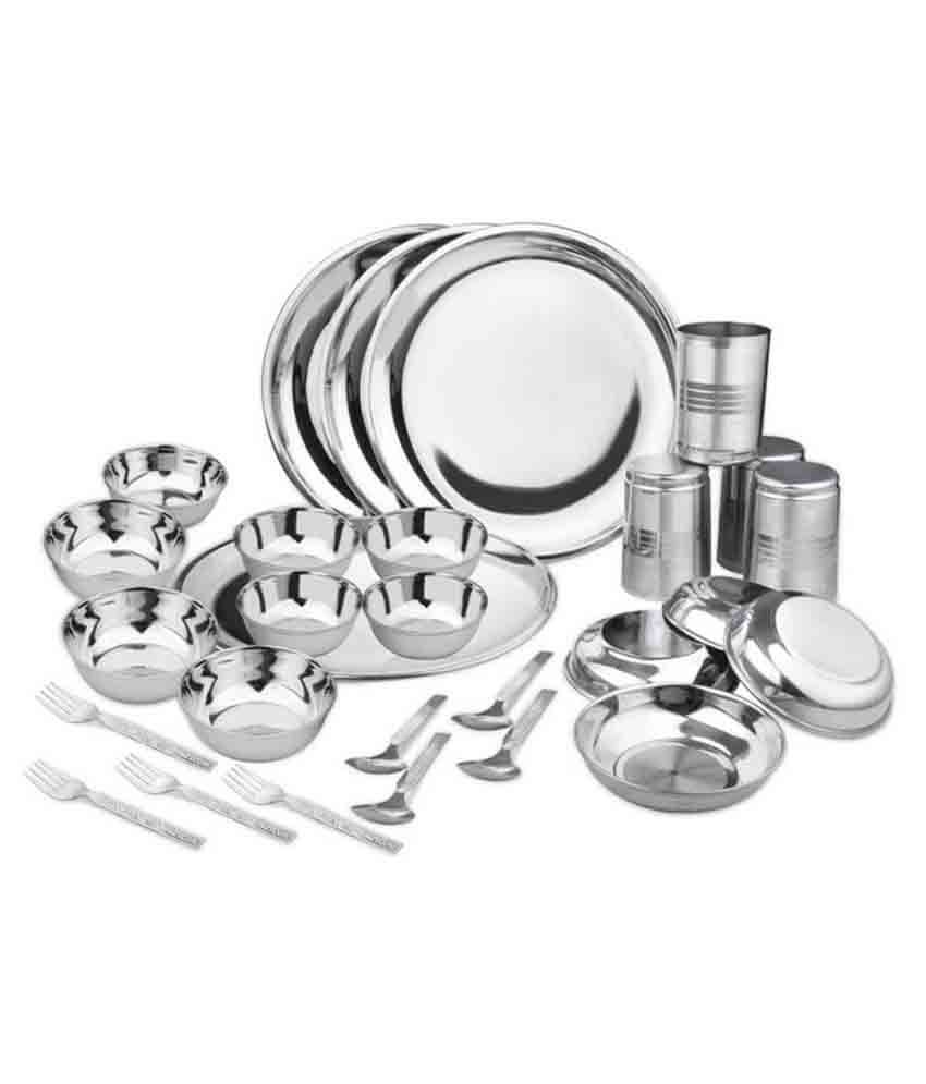 Apricot Stainless Steel Dinner Set - 28 Pcs
