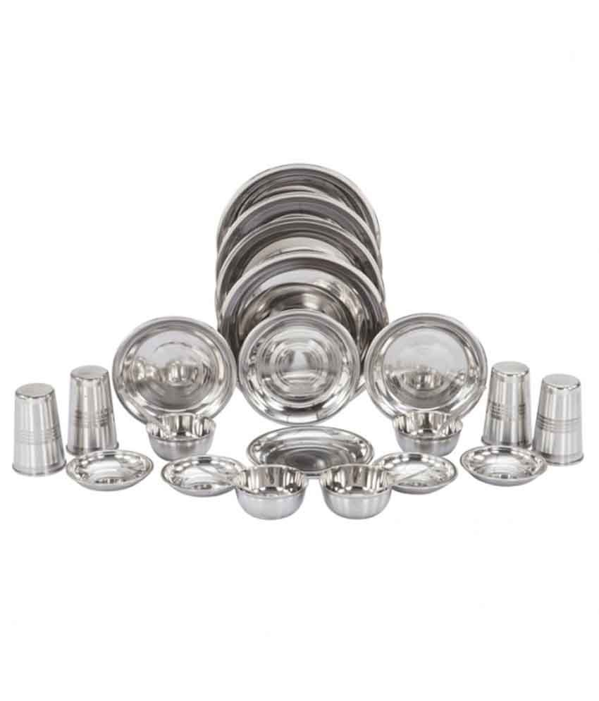 Apricot Stainless Steel Dinner Set - 24 Pcs