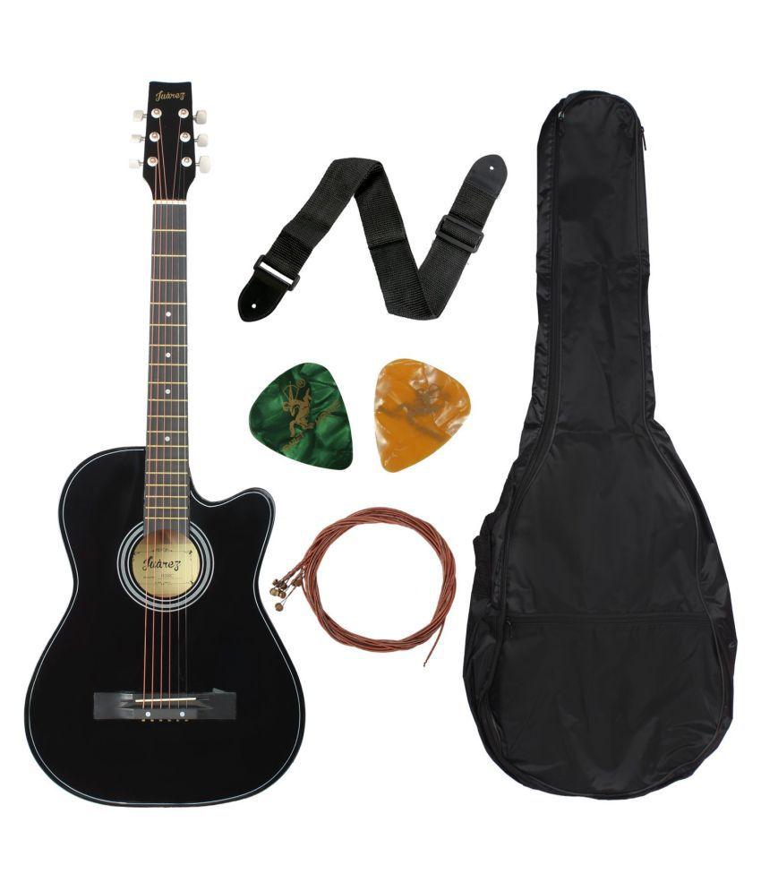 juarez 38c black acoustic guitar buy juarez 38c black acoustic guitar online at best prices in. Black Bedroom Furniture Sets. Home Design Ideas