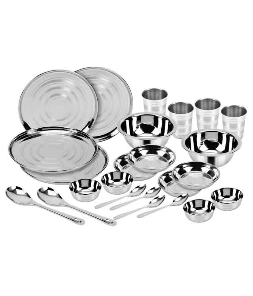 Kitchen Pro Stainless Steel Dinner Set - 24 Pcs
