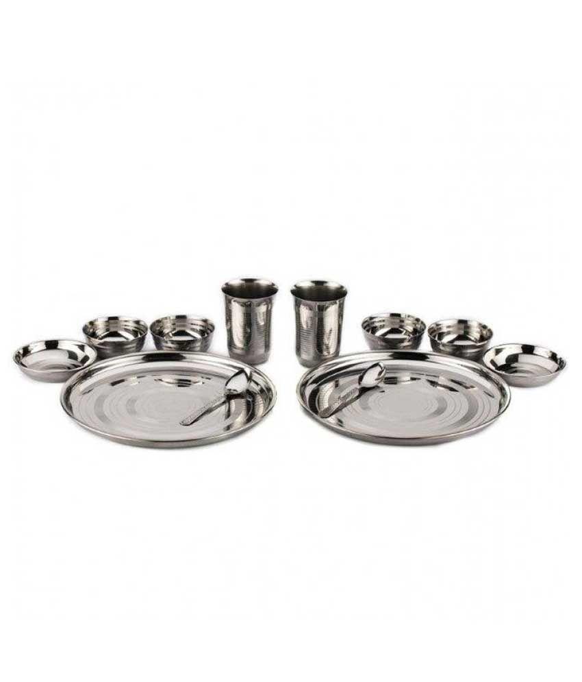 Kitchen Pro Stainless Steel Dinner Set - 12 Pcs