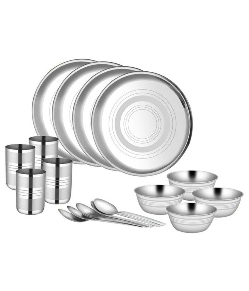 Kpro Stainless Steel Dinner Set - 16 Pcs