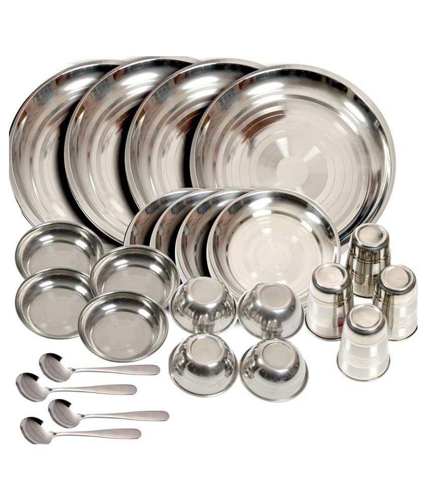 Kpro Stainless Steel Dinner Set - 24 Pcs