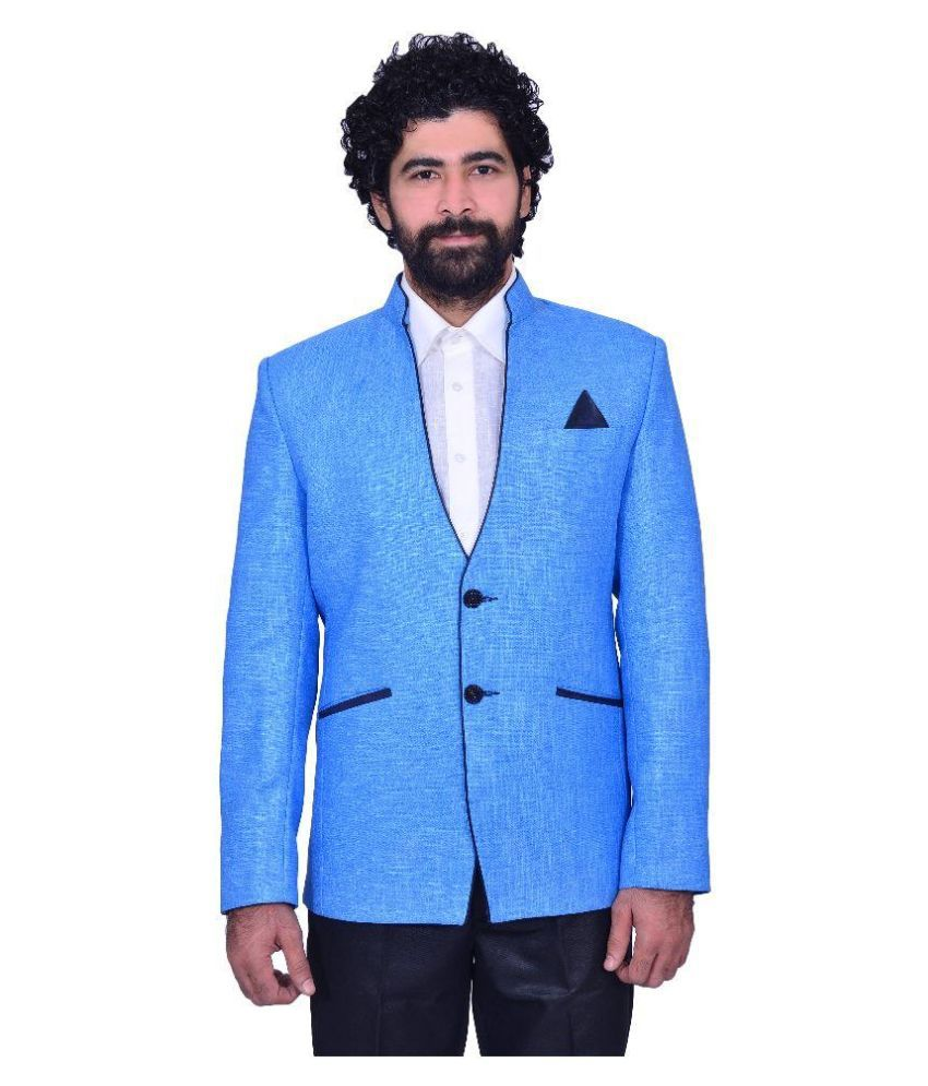 Snoby Blue Casual Blazers