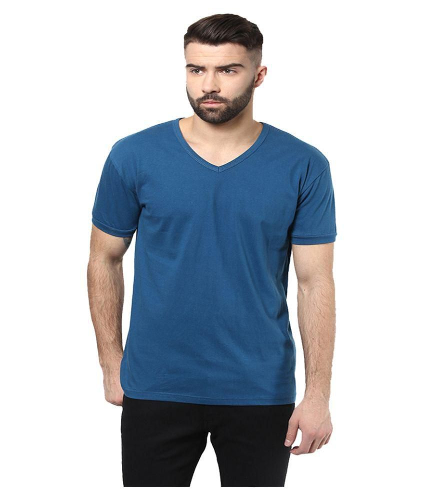 Unisopent Designs Blue V-Neck T-Shirt