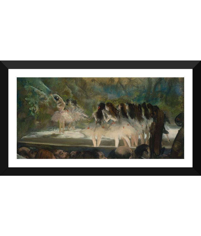 Tallenge Dance Art Paper Art Prints With Frame Single Piece