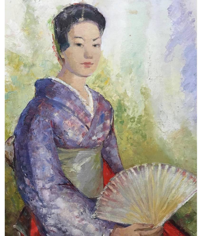 Tallenge Japanese Art Canvas Art Prints With Frame Single Piece