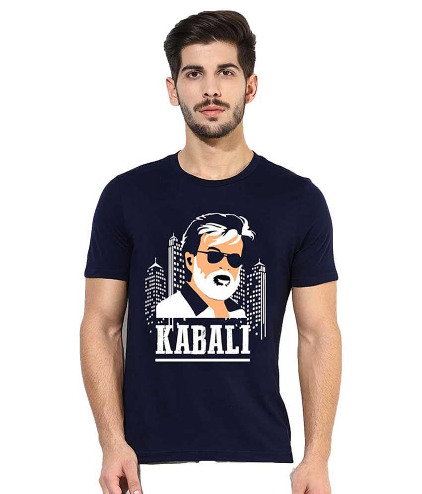 Gallop Navy Kabali printed T-Shirt