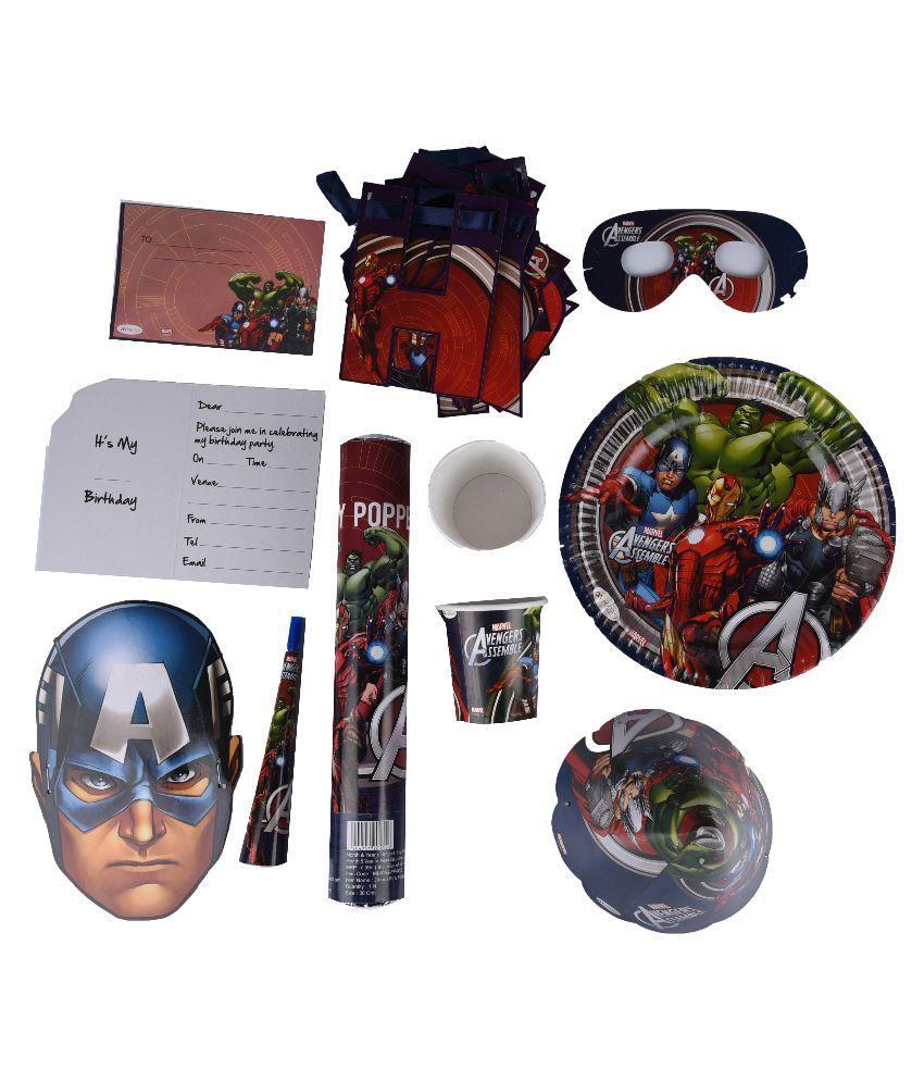 Marvel Avengers Birthday Party Combo Kit