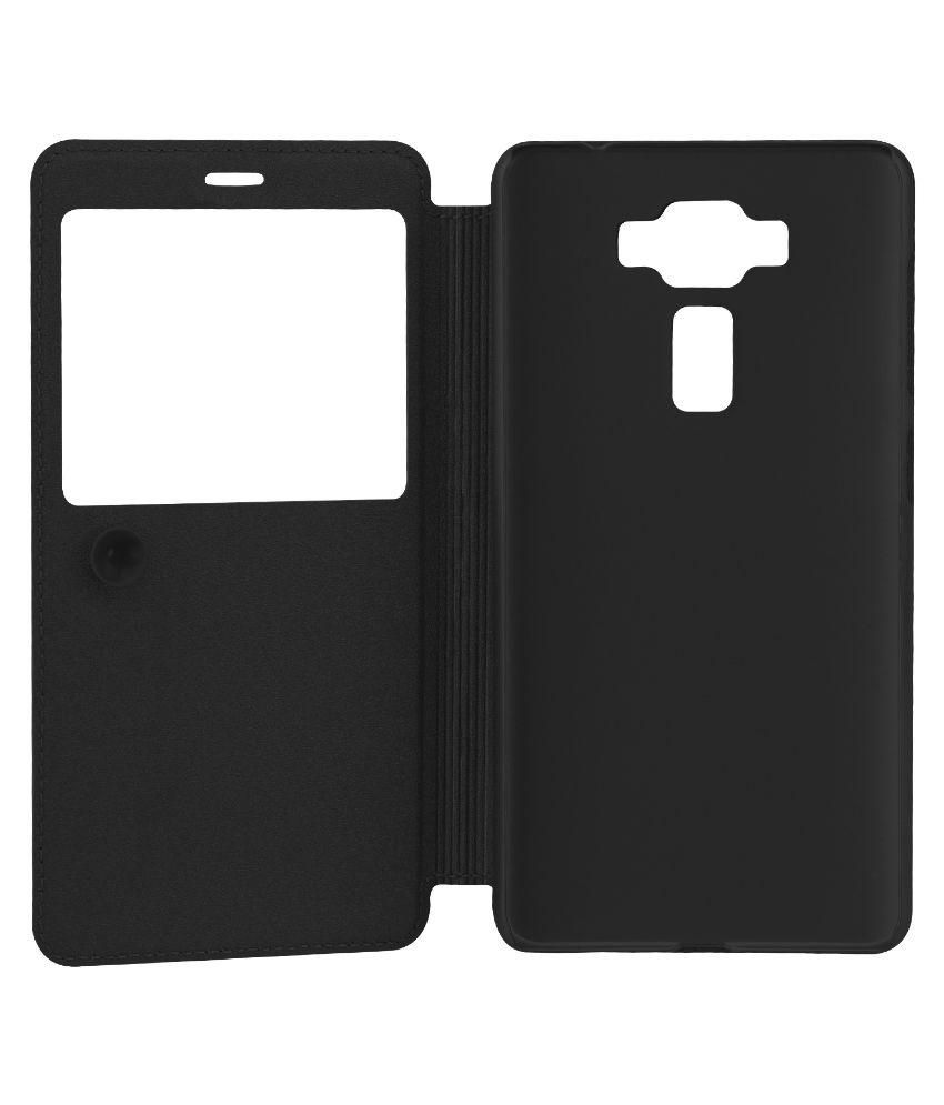 timeless design 9141d 31993 Asus Zenfone 3 ZE552KL Flip Cover by Ziaon - Black