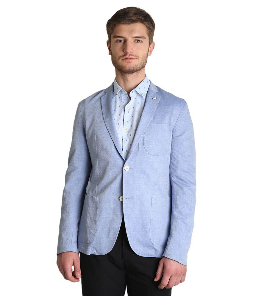 BLACKBERRYS Blue Skinny Fit Blazer