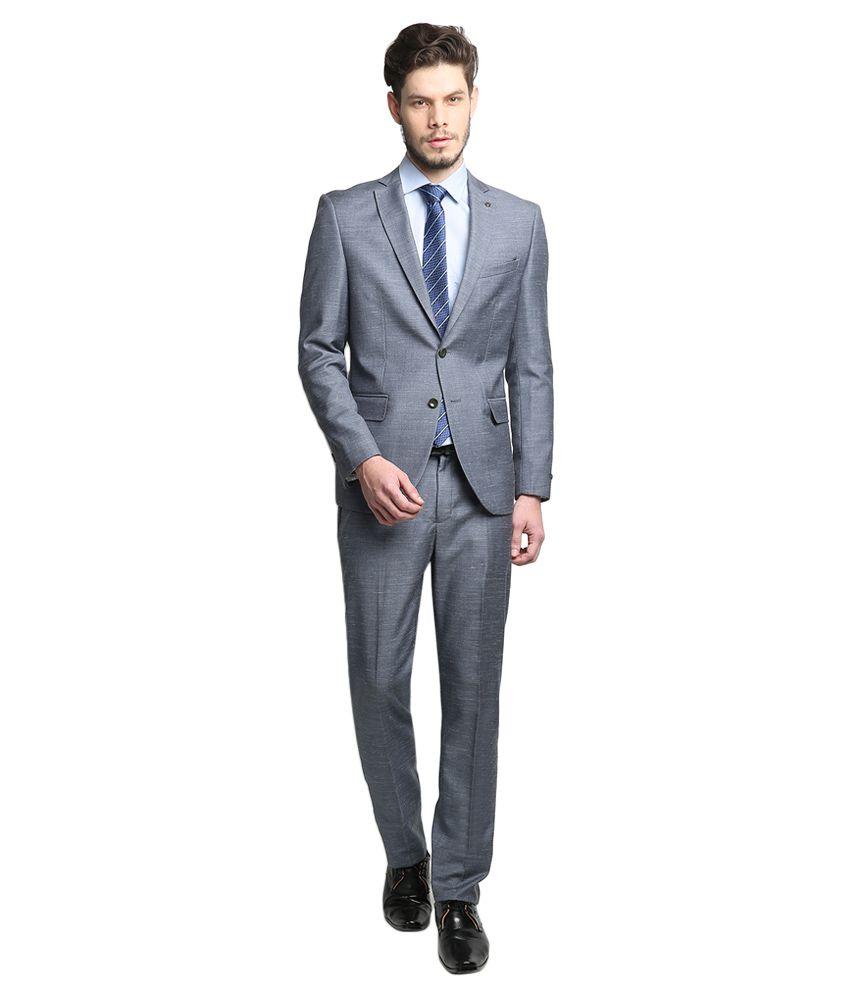 BLACKBERRYS Blue Slim Fit Single-Breasted Suit