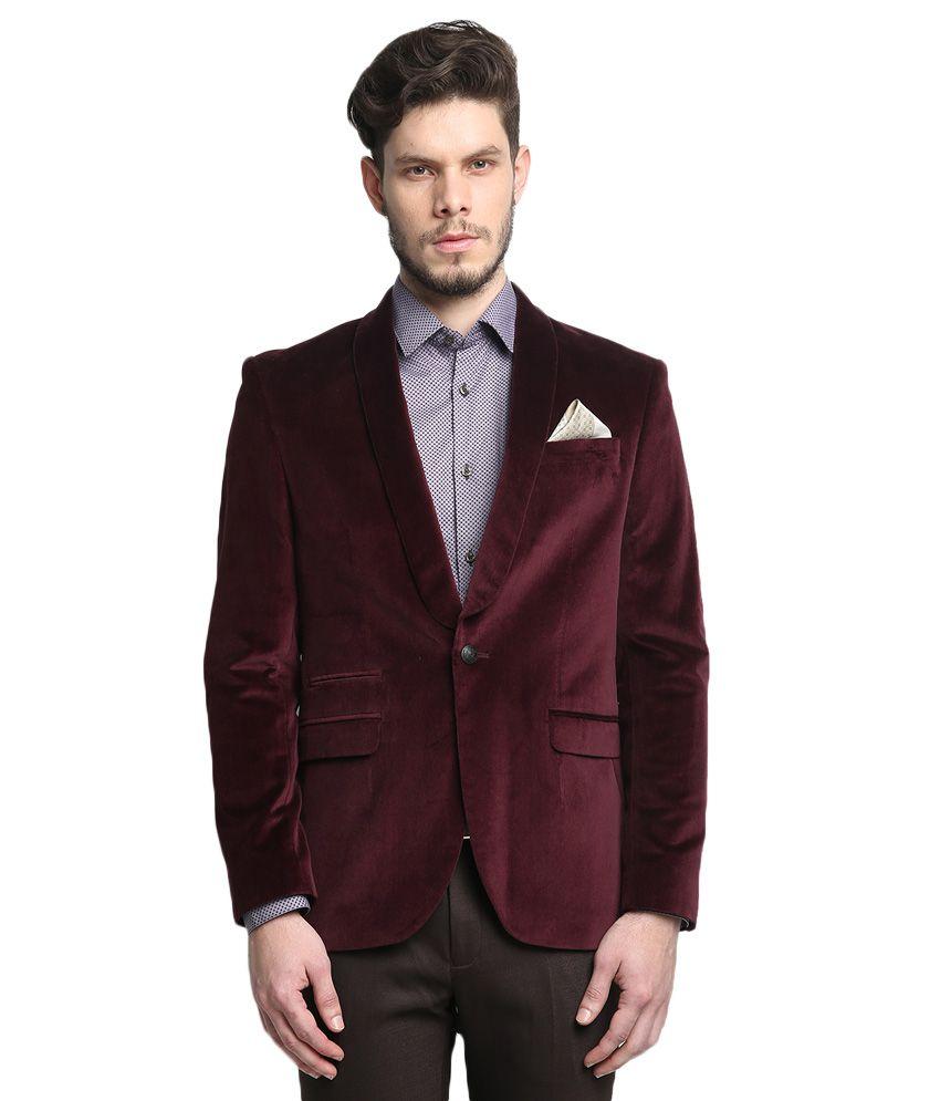 BLACKBERRYS Maroon Regular Fit Blazer