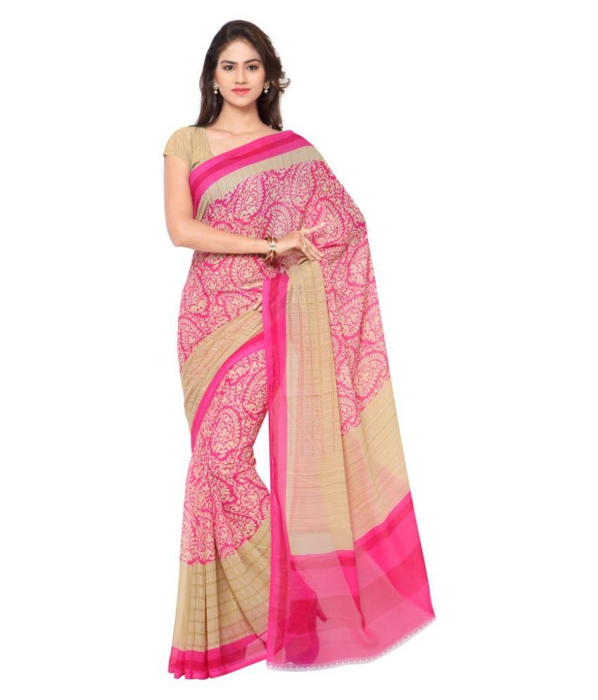 Triveni Pink Art Silk Saree