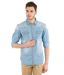 Highlander Blue Casuals Slim Fit Shirt