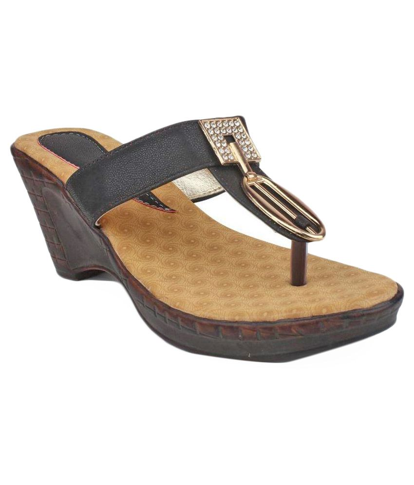 Ortan Black Block Heels
