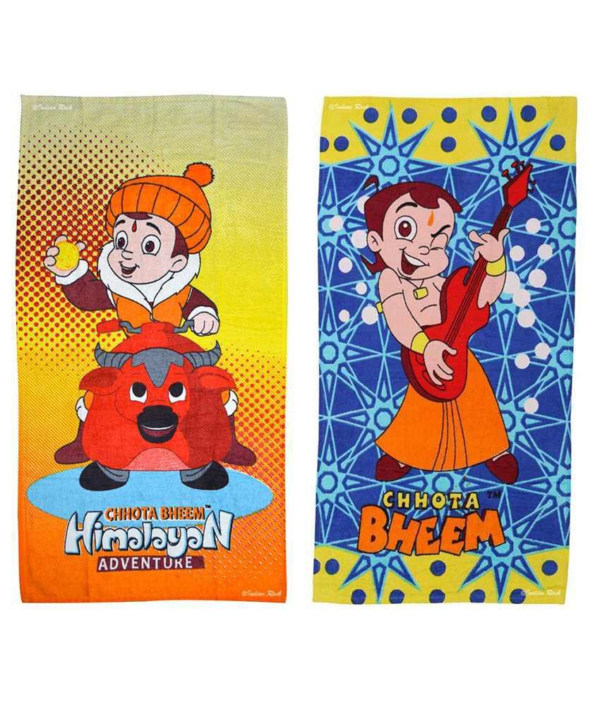 Indian Rack Multi Cotton Bath Towels 2 Kids Bath Towel