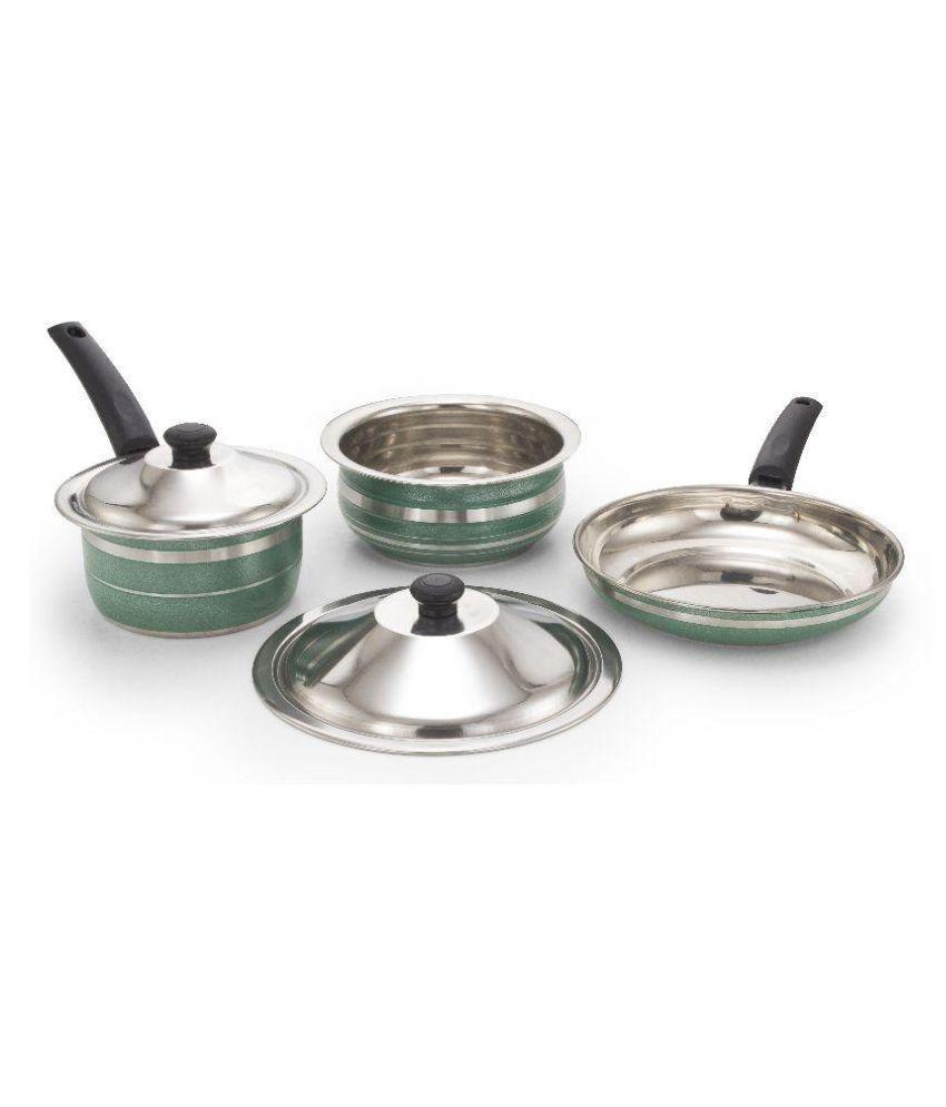Mahavir Enamle Cookware Set 5 Cookware Sets