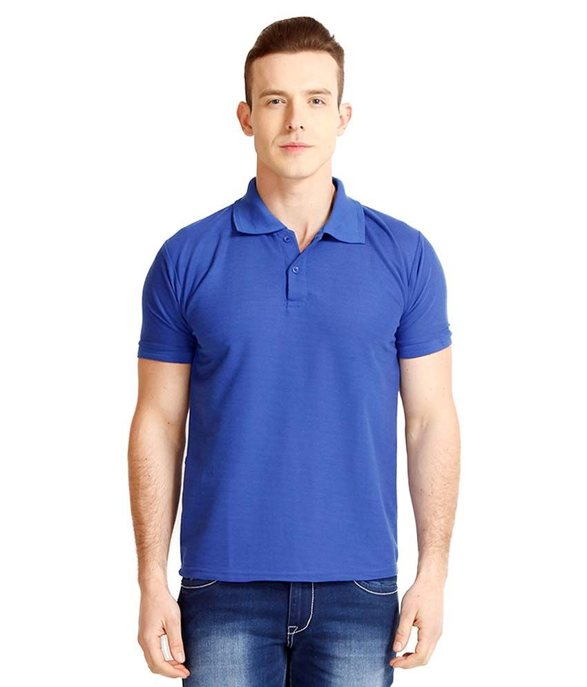 nimya blue regular fit polo t shirt buy nimya blue regular fit polo t shirt online at low. Black Bedroom Furniture Sets. Home Design Ideas