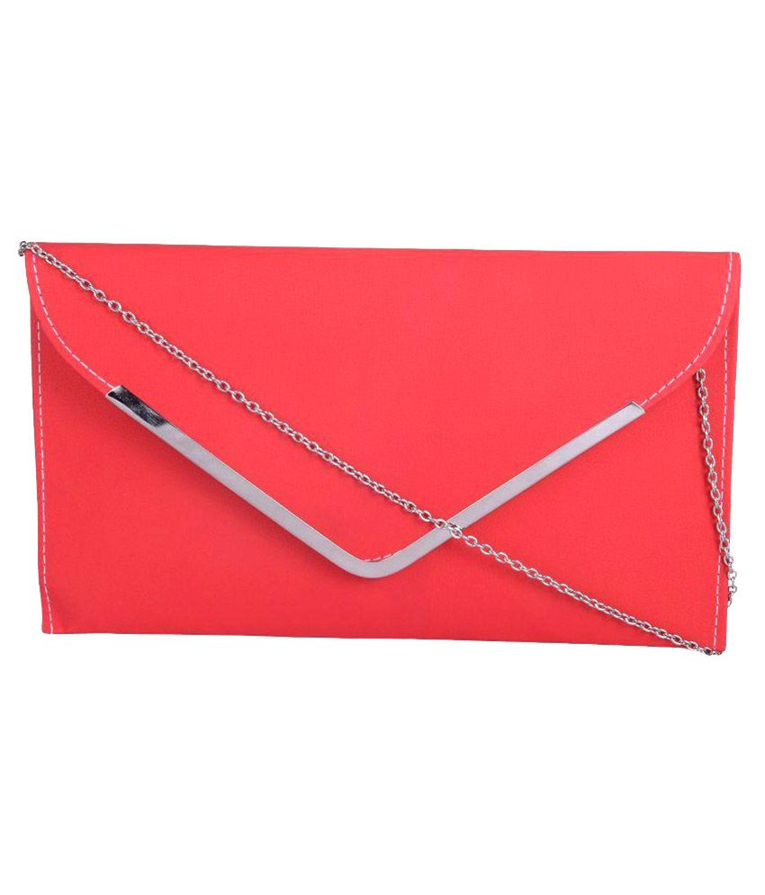 Nxt Gen Red Faux Leather Sling Bag