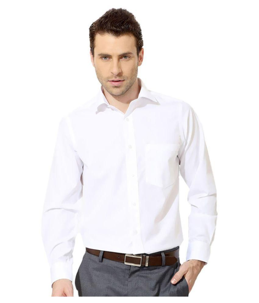 Unique for men white formal slim fit shirt buy unique for Mens formal white shirts