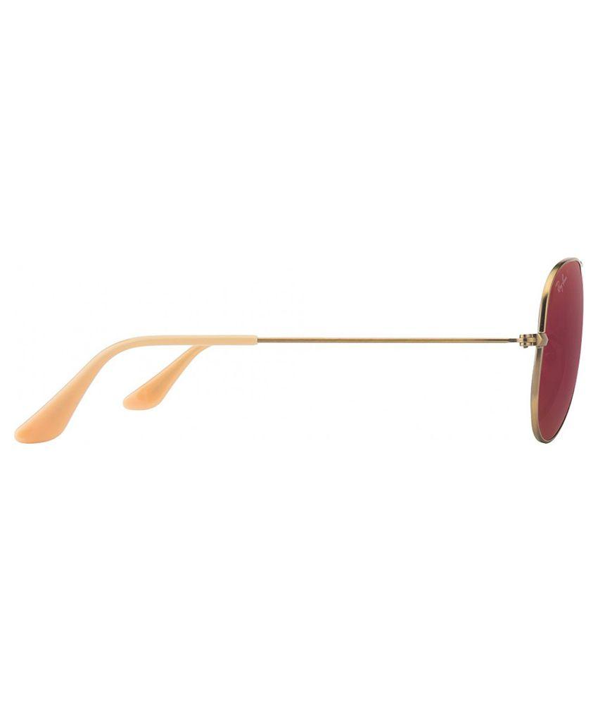 rb3025 55 ywe9  Ray-Ban RB3025 167/2K Size: 55 ORIGINAL AVIATOR Bronze / Red Sunglasses