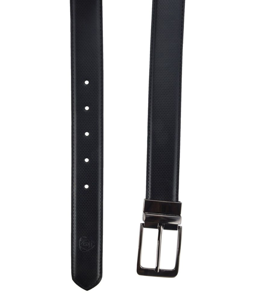 Garvan black Formal Reversible Belt for Men