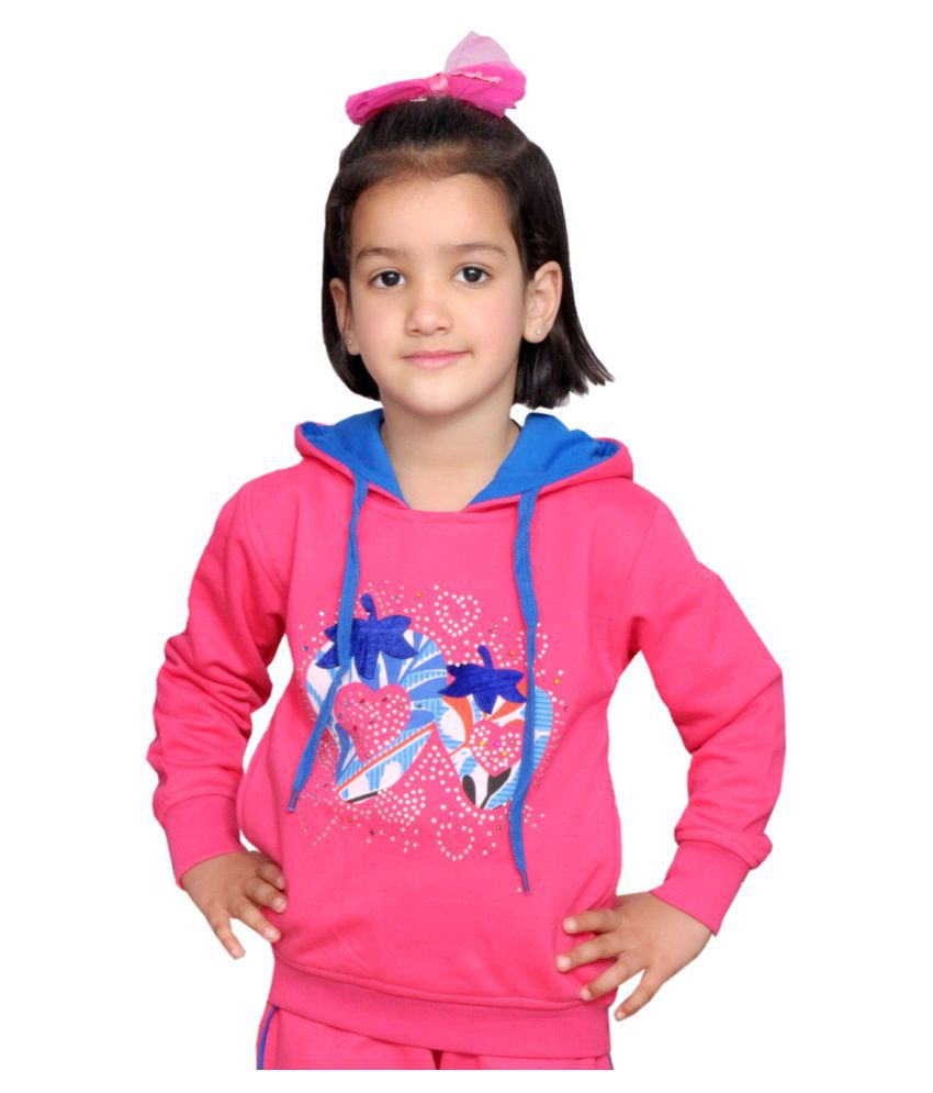 Shaun Pink Cotton Sweatshirt