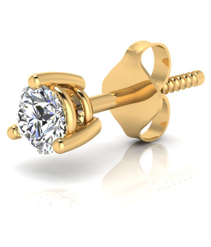 Carat Forever 18k BIS Hallmarked Yellow Gold Diamond Studs