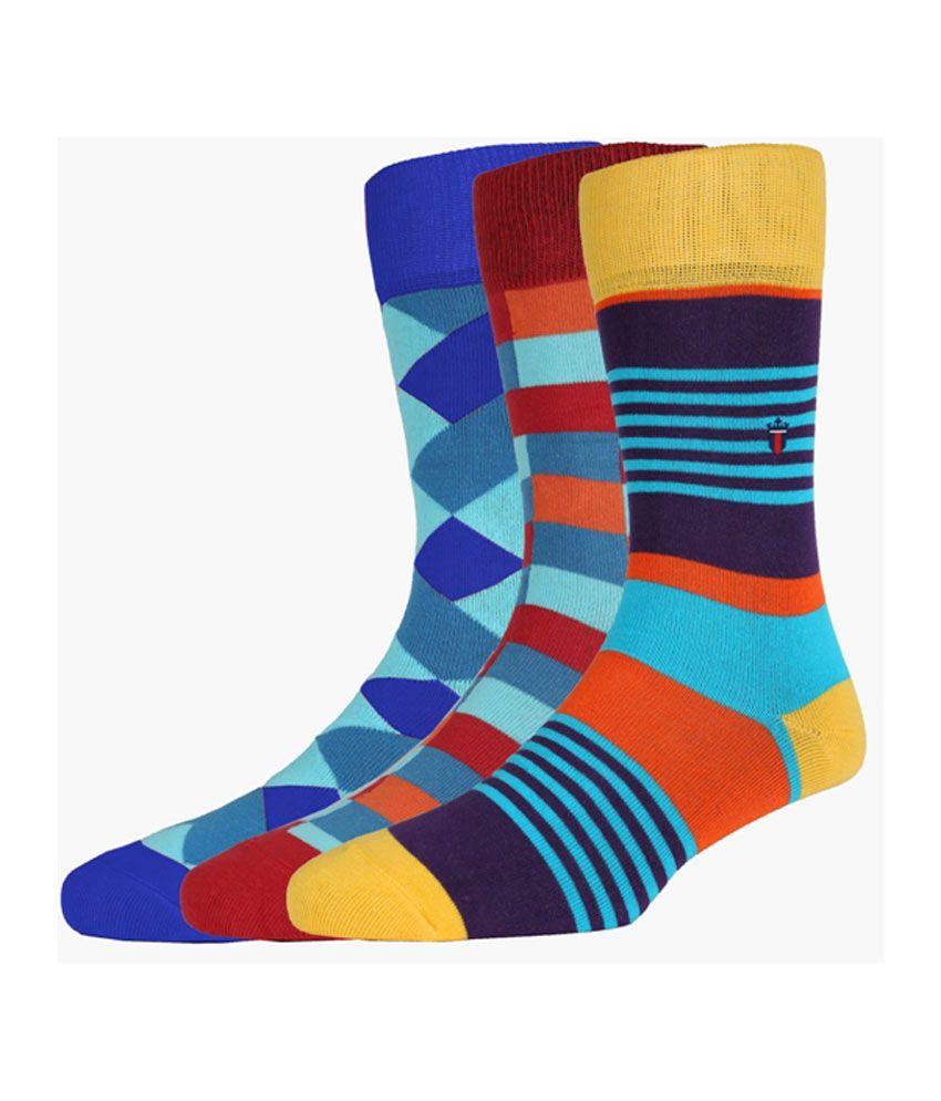 Louis Philippe Multi Casual Full Length Socks Socks