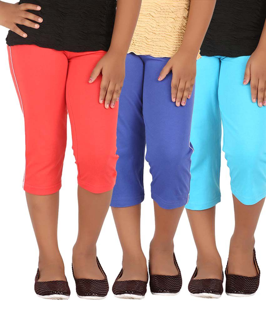 Minnow Multicolour Capris - Pack of 3