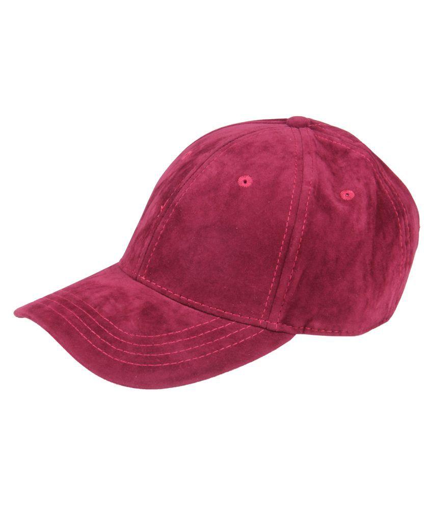 Chkokko Maroon Velvet Baseball Cap for Women  Buy Online at Low ... 1425c7a95c67