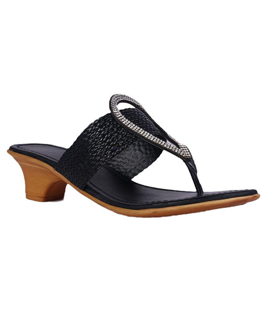 DJH Black Block Heels